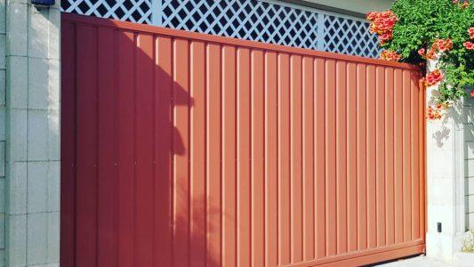 ворота откатные профлист